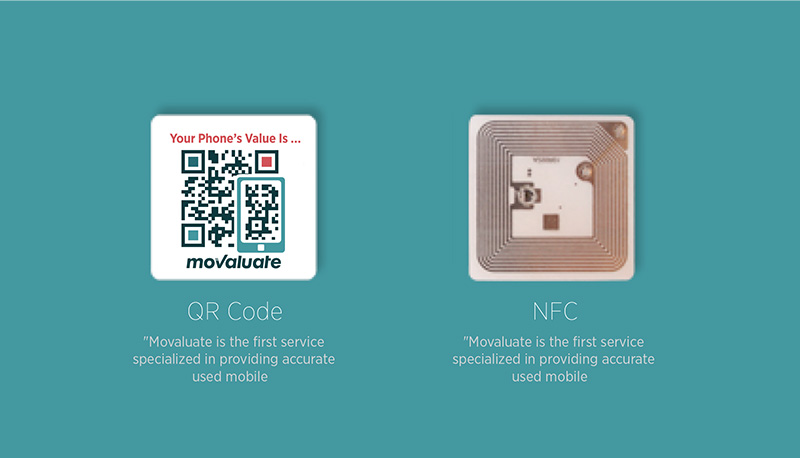 Movaluate's NFC-QR tag will be shipped free of charge