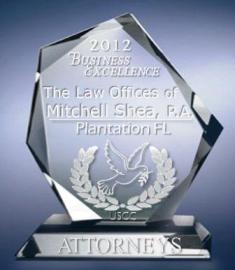 LAW OFFICES of MITCHELL SHEA, PLANTATION FL, 2012