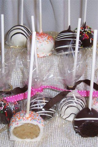 Cake Pops, Vanilla and Chocolate wrapped for grab and go