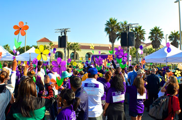 Attendees of the Alzheimer's Walk