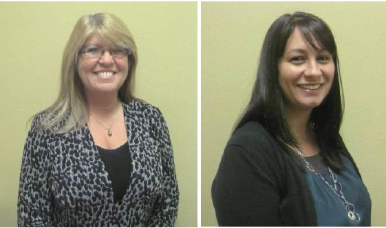 New Reunion Bank team members Anita Esposito (left), and Christina Zdunek.