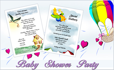 Baby Shower Twin Invites