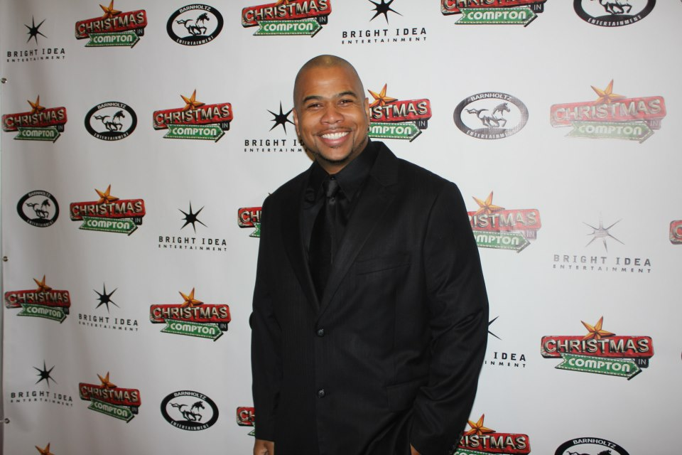 Omar Gooding at the Christmas In Compton premiere