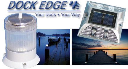 new solar powered lights from dock edge represented worldwide by e p. Black Bedroom Furniture Sets. Home Design Ideas