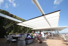 En-Fold retractable Fabric Roof - Juvia Miami Beach