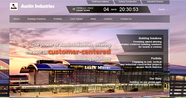 Austin Industries new site
