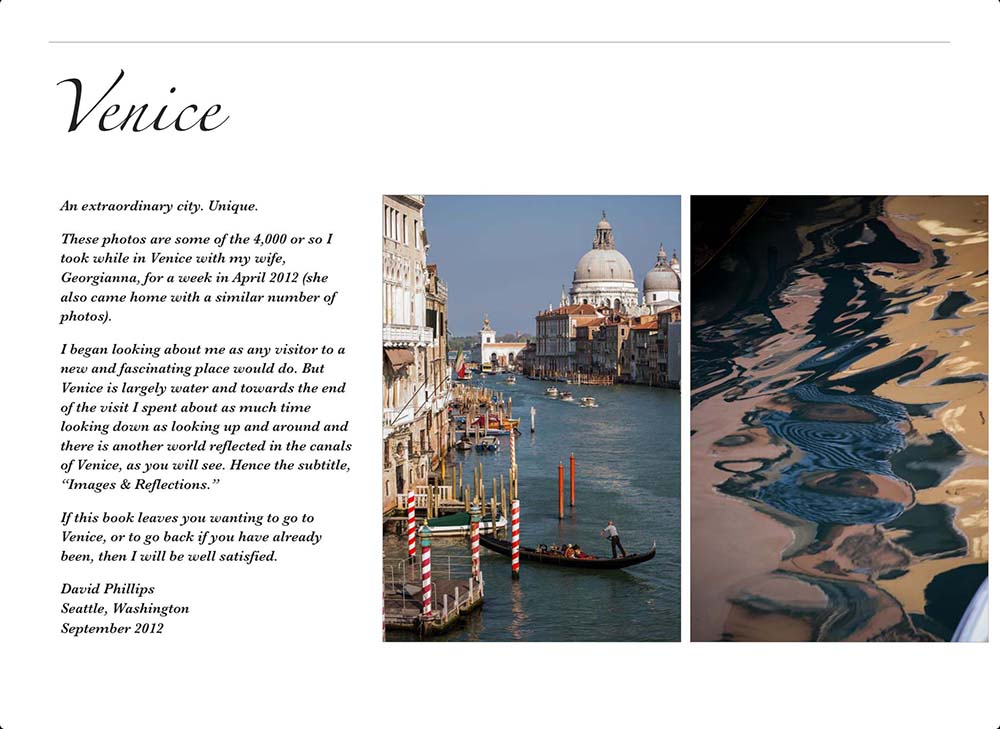 Venice Book in iTunes