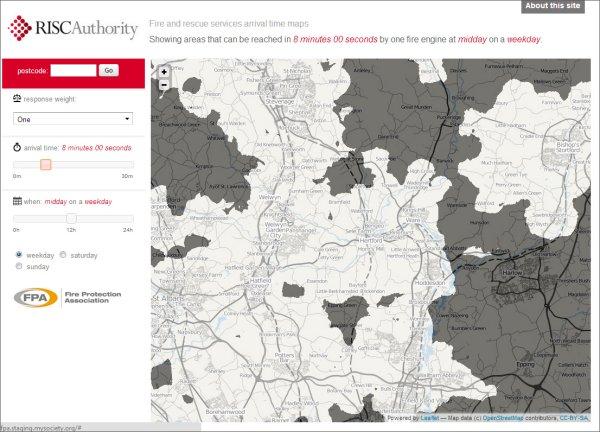 Risk assessment tool runs on GeoConcept and NAVTEQ data.