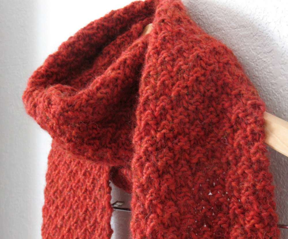 Moss Stitch Scarf Knitting Pattern : Dallas women who are HIV-positive knit and then wear Scarlet Scarves...