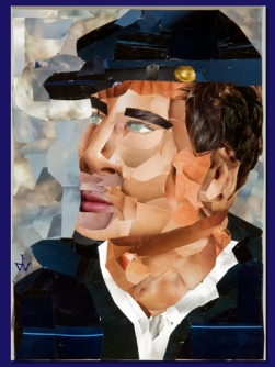 John Williams award winning collage Billy Yank won first prize at Art Ability