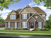 The Sweetbriar model home at The Woodlands at Westfall