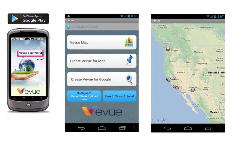 Video reviews android app map layer location geotag