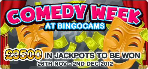 Win £3,500 in Bingocams Comedy Week