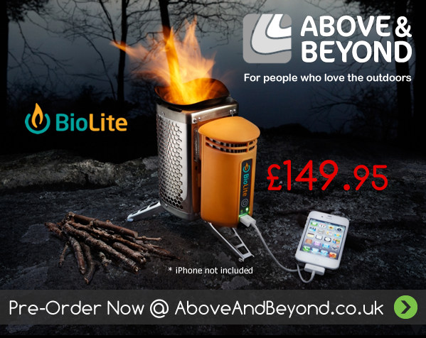 BioLite CampStove - Pre-Order Yours Now @ AboveAndBeyond.co.uk