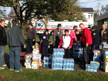 Food and supply delivery for victims of Sandy
