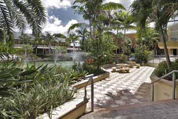 Fountains Center's courtyard garden