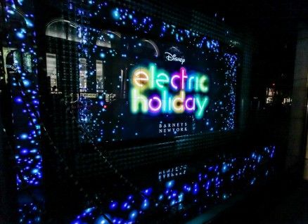 Christie MicroTiles Light Up Barneys Windows With Disney's 'Electric Holiday'