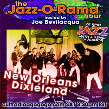 1920s New Orleans Dixieland Saturday, November 17 - 3:30 pm ET on CRAGG