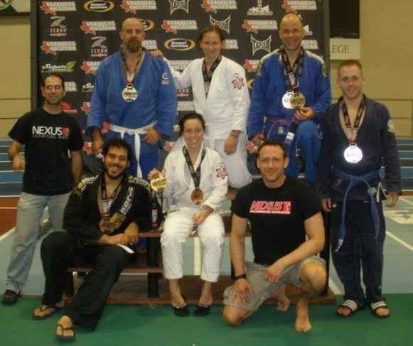Each Nexus team member won a medal at the Grapplers Quest Boston tournament