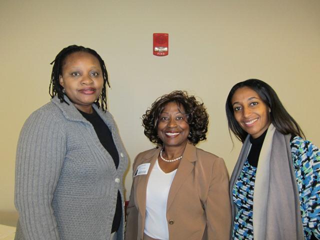 (L-R)Dr. Tendai Ndoro, Anna D. Banks and Alfa Demmellash