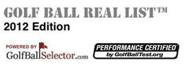 Real Ball List 2012 - Powered by GolfBallSelector