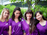 Au Pairs volunteer at adoption event