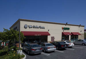 Building occupied by 7-Eleven and The Coffee Bean & Tea Leaf sold in Torrance.