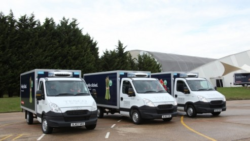 Tesco 'freshly clicked' home delivery vans