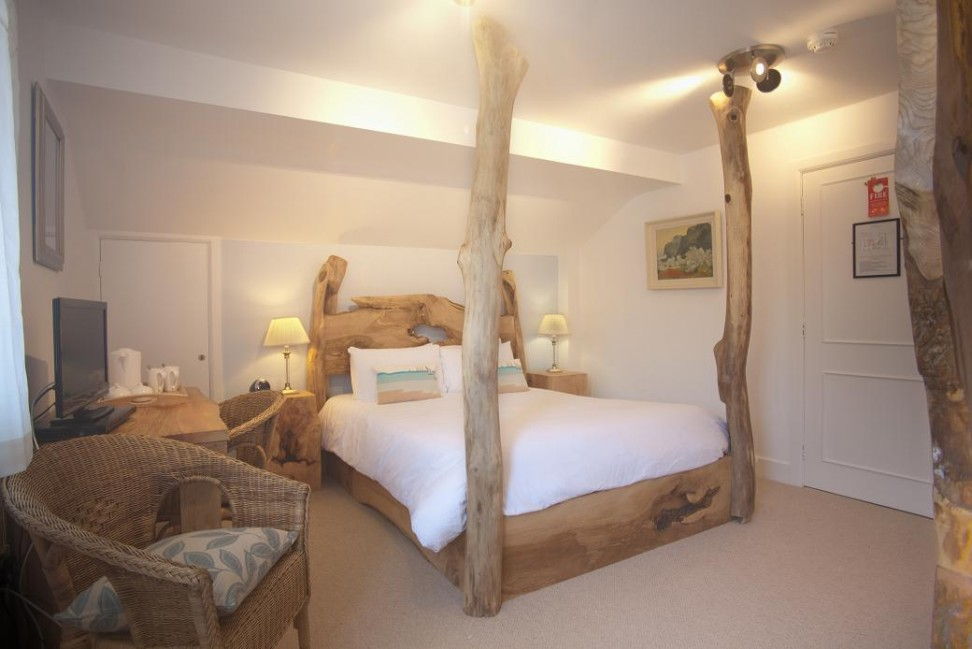 One of Cottage Lodge's handmade beds