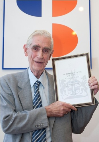 Bucking the trend: John Copley with his Law Society certific