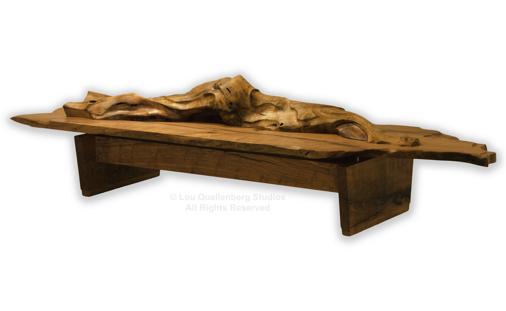 """Drift"" Sculptural Mesquite Table by Lou Quallenberg"