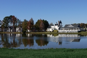 Johnson's Landing Clubhouse, Overlooking Johnson's Pond