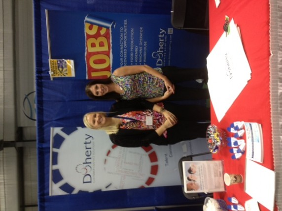 Doherty's Amanda Kunferman & Melissa Olson at The Business Expo in Eau Claire