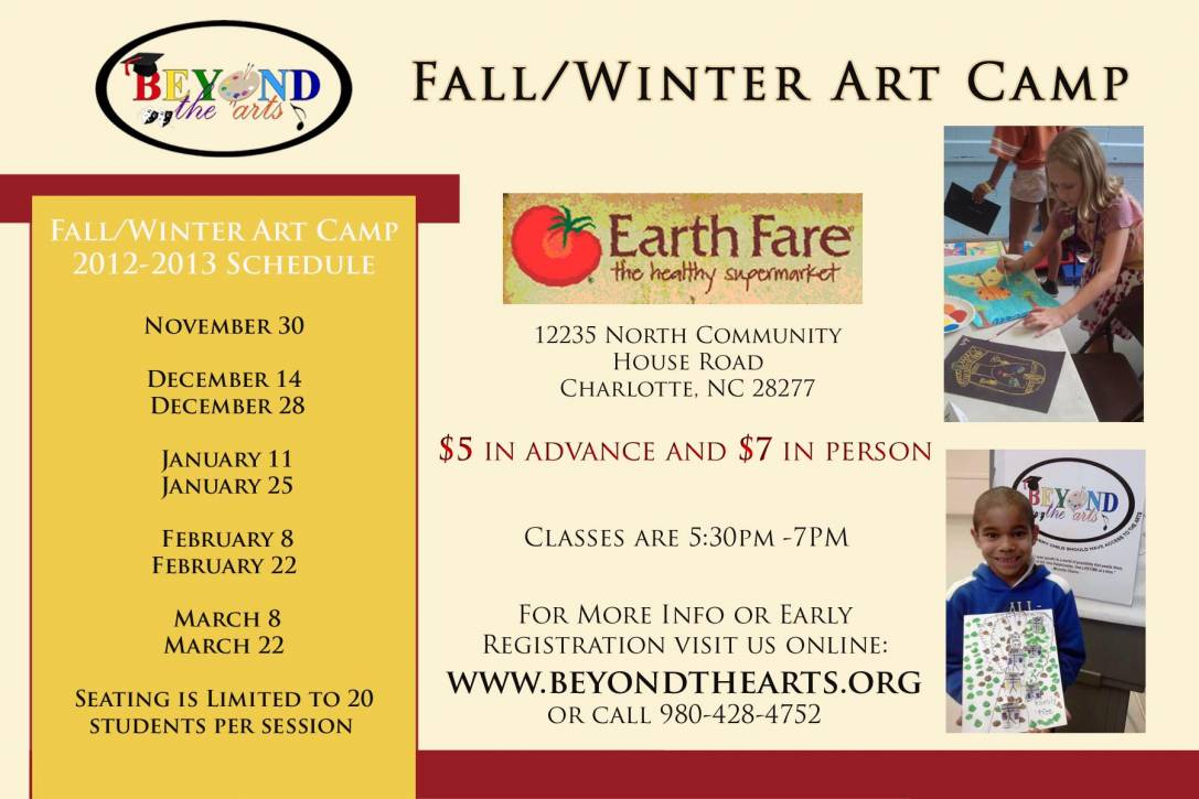 Beyond The Arts Fall/Winter Workshops