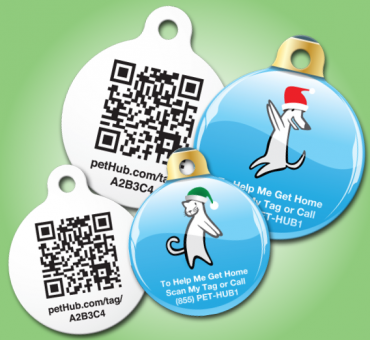 Free PetHub holiday ID tags (included with premium subscription until Dec. 15)