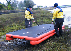 Launching a section of the Zodiac Rescue Track