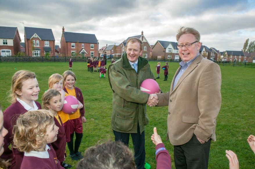 James Wilson and Mike Hannon on new playing field