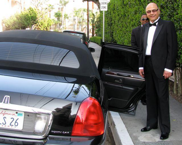 David Shamoon enroute to the OSCARS in Custom Treccani Milano Tuxedo Shoes