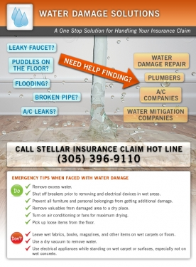 Roof Damage Can Cause Serious Water Damage - Ask our Miami Public Adjusters