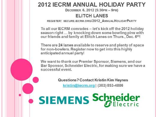 iecrm holiday bowling party invitation