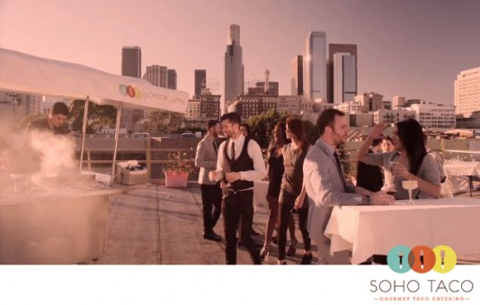 VIDEO: SoHo Taco Gourmet Taco Catering with a Los Angeles skyline.