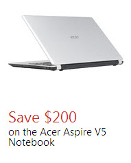 Acer Aspire V5 Notebook