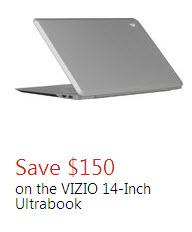 VIZIO 14 inch Ultrabook