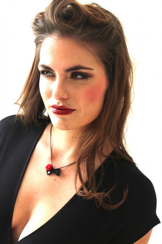 Such A Bettie Bow Necklace in Cherry on Top