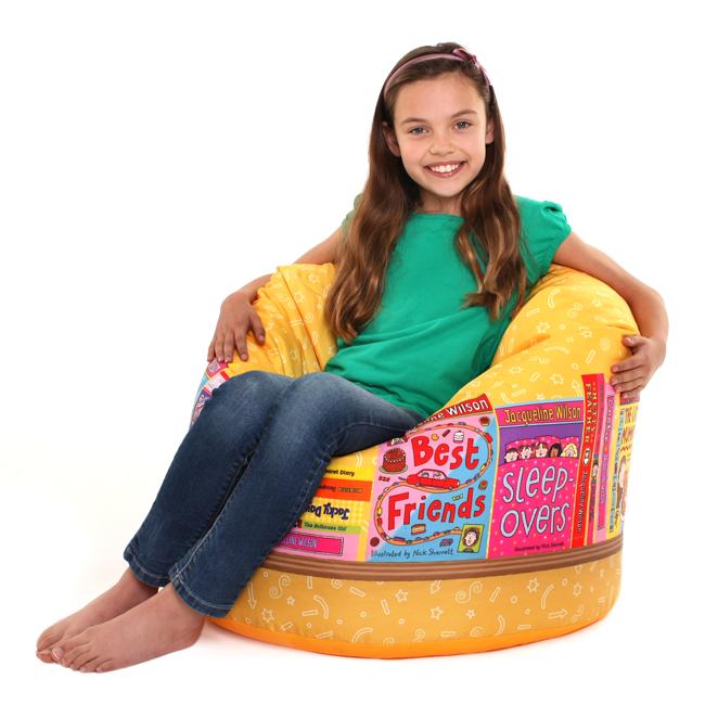 Jacqueline Wilson Kids Classic Beanbag - Bookshelf Design