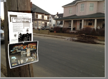Flyers touting robot built replacement homes in NJ