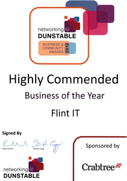 Flint IT - Business of the Year - Highly Commended