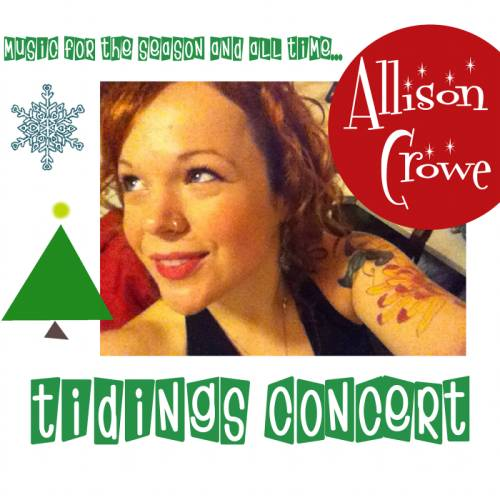 "Allison Crowe's ""Tidings Concert"" album is released this coming week"