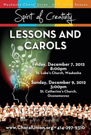 Waukesha Choral Union Lessons and Carols