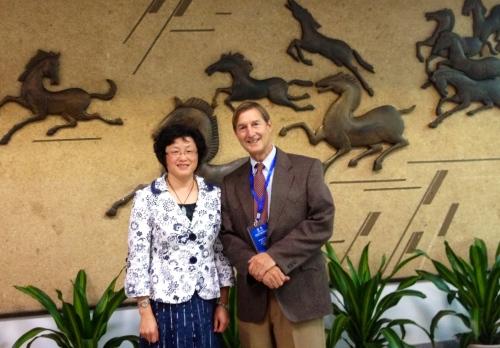 Dr. Grauer with Communist Party School rep and VP, Shangai Gezhi School